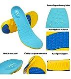 HappyStep® Gel-Einlegesohlen bieten hervorragende Abfederung und Stoßdämpfung für Fußballen und Ferse beim Gehen, Joggen und Rennen (Größen L: 38-41 EU)