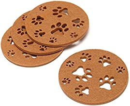 Dulce Cocina - Love Paw Coasters - Set of 4 Camel - Best Housewarming Gift - Coasters for Beverage D