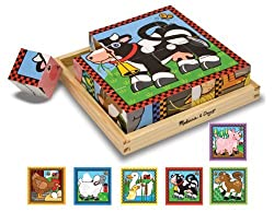 Melissa &amp; Doug Farm Cube Puzzle