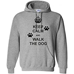 Kids Keep Calm and Walk the Dog Personalised Hoodie, Ages 5-15, Various colours