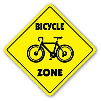 Bikes Zone BICYCLE ZONE Sign xing gift