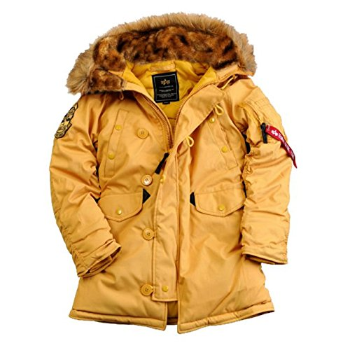 Alpha Ind. Frauen-Jacke Explorer Wmn w/o Patches - mustard