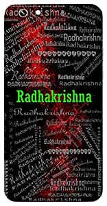 Radhakrishna (Radha & Lord Krishna) Name & Sign Printed All over customize & Personalized!! Protective back cover for your Smart Phone : Apple iPhone 6-Plus