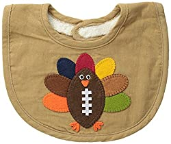 Mud Pie Baby-Boys Newborn Football Turkey Bib, Multi, One Size