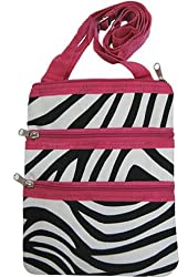 World Traveler Pink Zebra Small Hipster Cross-Body Bag