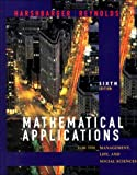 Mathematical Applications for Management: Life and Social Scienc