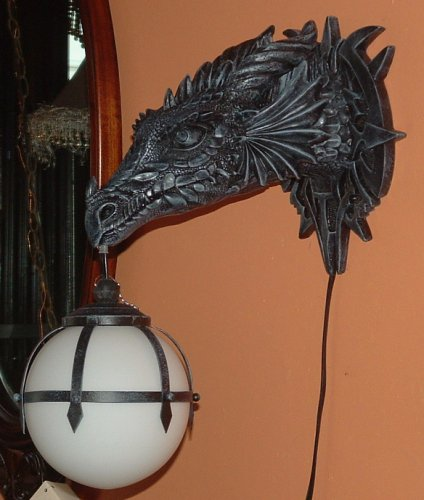 Cool Dragon Head Lamp H by ACK