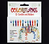 Colorflame Birthday Candles, 6-Pack of 12 Candles