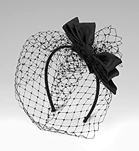 125 Years Satin Bow Fascinator Headband - Marks & Spencer :  125 years satin bow fascinator headband retro netting satin