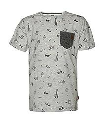 Vitamins Boys' T-Shirt (08B-1320-10_Grey Melange_10-11 Years)