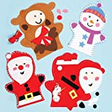 Christmas Hand Puppet Sewing Kits for Children to Make and Display (Pack of 3)