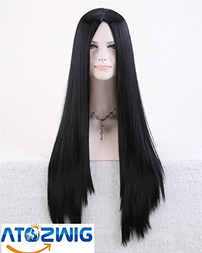 [ATOZWIG@Sexy Women New Cosplay Party Long Straight NO Bangs Natural Hair Cosplay Wigs Costume Party Fancy] (Long Sexy Wigs)