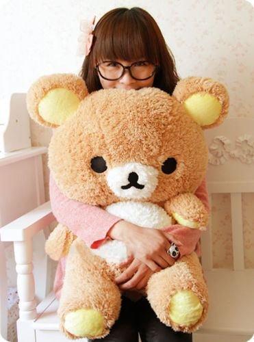 Stuffed Relax Bear 55cm Soft Pillow Plush Cute Doll Toy Perfect Hot Wedding Gift (Plush Mouse Eyemask)