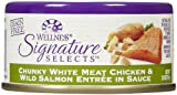 Wellness Signature Selects Chunky Chicken & Wild Salmon - 24x2.8oz