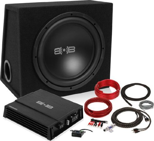 "Belva Bpkg112 600W Complete Bass Package With 12"" Sub In Ported Box, Monoblock Amplifier And Amp Kit"