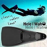 Hele i Waho スキンダイビング用 フルフットフィン クラシックラバー コンパクト フルフットフィン