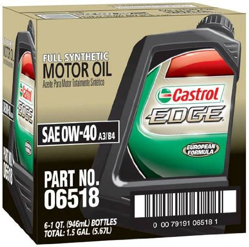 Castrol 06518 Edge 0w 40 Spt Synthetic Motor Oil 1 Quart