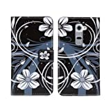 W-RainBow Newest Arrival Beautiful Flower And Butterfly Series Wallet Style Design Folio Leather Cover Book Stand Protective Case for LG G2(Beautiful Flower)Randomly Presented A Piece Winder