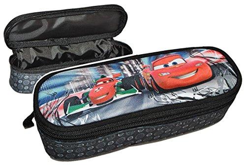 2-in-1-Federmappe-Kosmetiktasche-Disney-Cars-Lightning-McQueen-Schlamper-Etui-Kinder-Schlamperrolle-Auto