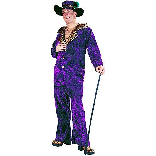 Big Daddy Velvet Pimp Suit Adult Costume - One Size