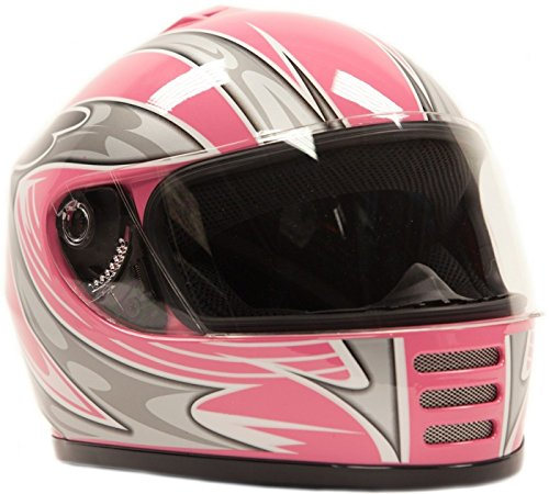 Youth Full Face Helmet Pink ( Large ) (Youth Full Face Helmets compare prices)