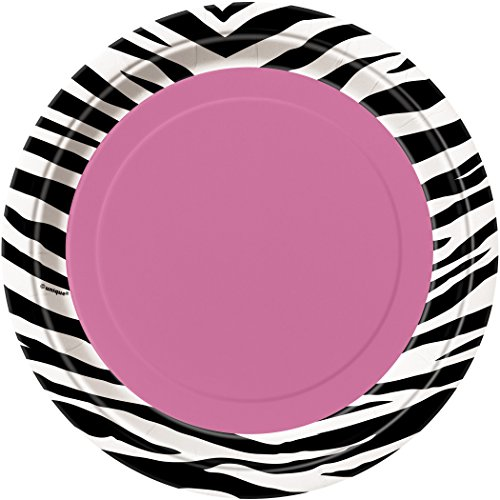 18cm Zebra Print Party Plates, Pack of 8
