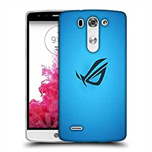 Snoogg Blue Minimalistic Designer Protective Phone Back Case Cover For LG G3 BEAT