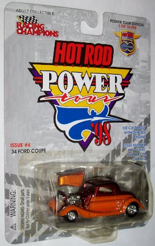 1 of 19,998 Racing Champions Power Tour Eidtion Hot Rod Magazine 50th Anniversary 1:54 Scale Issue #4: '34 Ford Coupe Die Cast Vehicle - 1