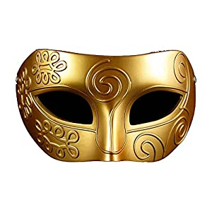 Coofit® Retro Roman Gladiator Halloween Party Mask Masquerade Mask (Resin Gold) from Coofit®