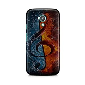 Motivatebox - Moto E2 (2nd Generation) Back Cover - Fire Ice Music Polycarbonate 3D Hard case protective back cover. Premium Quality designer Printed 3D Matte finish hard case back cover.