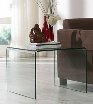 Beistelltisch Glas Design Wohnzimmertisch 60 X 60 Cm Glastisch