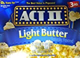 Act II Light Butter Microwave Popcorn 4 Boxes of 3 (12 Bags Total)