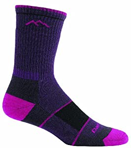 Darn Tough Vermont Women's Coolmax Boot Sock Full Cushion, Small, Blackenberry