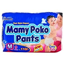 Mamy Poko Pant Style Medium Size Diapers (9 Count)