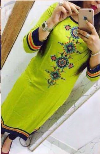 Kesu-Fahion-Womens-Embroidered-semi-stitched-Selfie-Kurti-In-Georgette-Fabric-KUKRT1015Free-SizeSea-Green