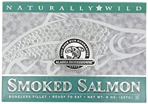 Alaska Smokehouse Smoked Salmon Fillet In Green, 8 Ounce Gift Box