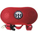Abco Tech Portable Water Resistant Wireless FM Radio Bluetooth Speaker with Hands-Free Speakerphone and Storage, Red