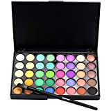 Fabal Cosmetic Matte Eyeshadow Cream Makeup Palette Shimmer Set 40 Color+ Brush Set (B)