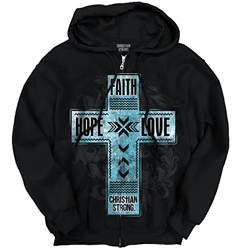 Faith-Hope-Love-Christian-T-Shirts-Jesus-Christ-Gift-Ideas-Zipper-Hoodie
