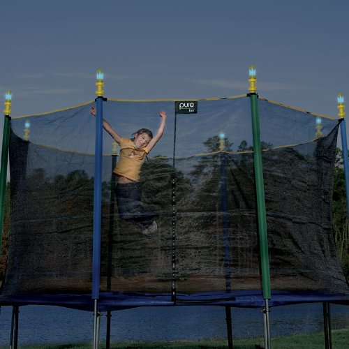 Pure Fun Trampoline Solar Lights Set Yellow 796793886890