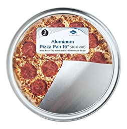 3 Pack Set - Aluminum 16 inch Pizza Pan - Wide Rim