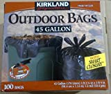 Kirkland Signature Smart Closure Outdoor Lawn Trash Bags - 45 Gallon - 100 Count