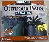 Kirkland Signature Smart Closure Outdoor Lawn Trash Bags - 45 Gallon - 100 Count