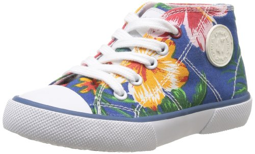 Little Mary Little Basket - Sneaker Unisex - Bambino, Blu (Flowers Bleu), 28