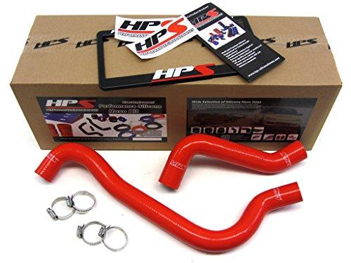 Dodge 03-05 Neon SRT-4 Turbo HPS Red Reinforced Silicone Radiator Hose Kit Coolant (Srt4 Radiator Hose compare prices)