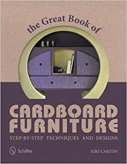 The cover of the Great Book of Cardboard Furniture paperback book