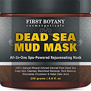 First Botany Cosmeceuticals Natural Mineral-Infused Dead Sea Mud Mask for Face, 8.8 oz