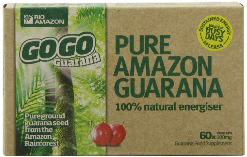 Rio Amazon 500mg GoGo Guarana - Pack of 60 Vegetable Capsules