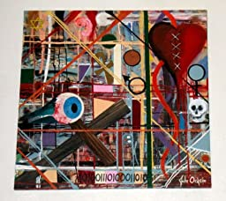 Modern Art Abstract Painting 36 x 36 Inches (3\' x 3\') Titled: TRAPPED IN THE WEB