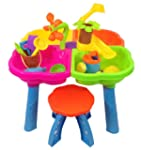 Sand and water play table 4 in 1 with...